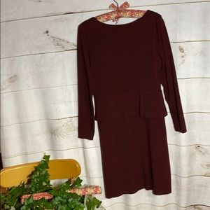 Talbots; Cranberry Red midi dress; Mp
